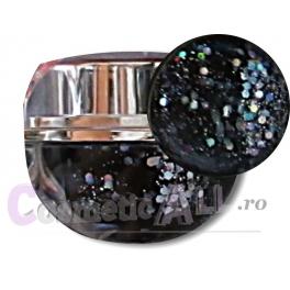 Gel Black Glitter Extra