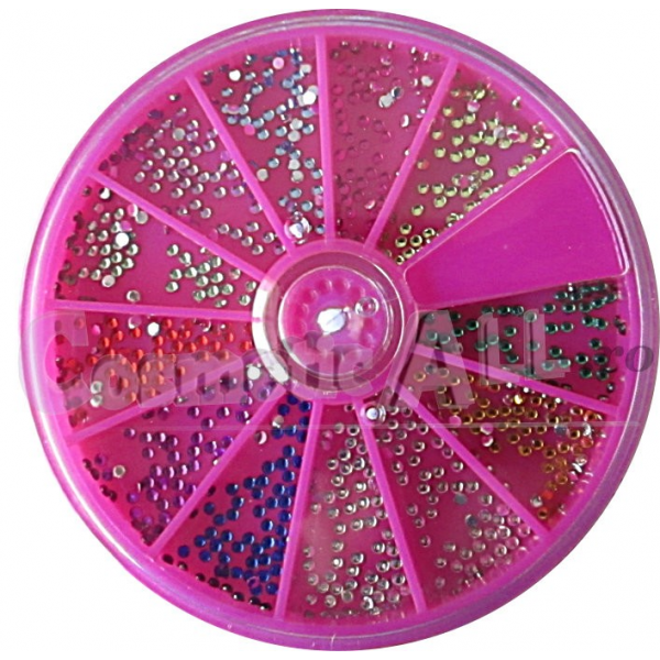 Strasuri Multicolore Disc Mare