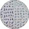 Sticker-Tatuaj Unghii Blue Flowers