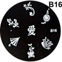 Matrita Stampila Unghii B16
