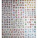 Sticker-Tatuaj Unghii Craciun 844
