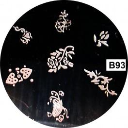 Matrita Stampila Unghii B93