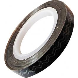 Banda Adeziva Lata Neagra Zigzag 6mm