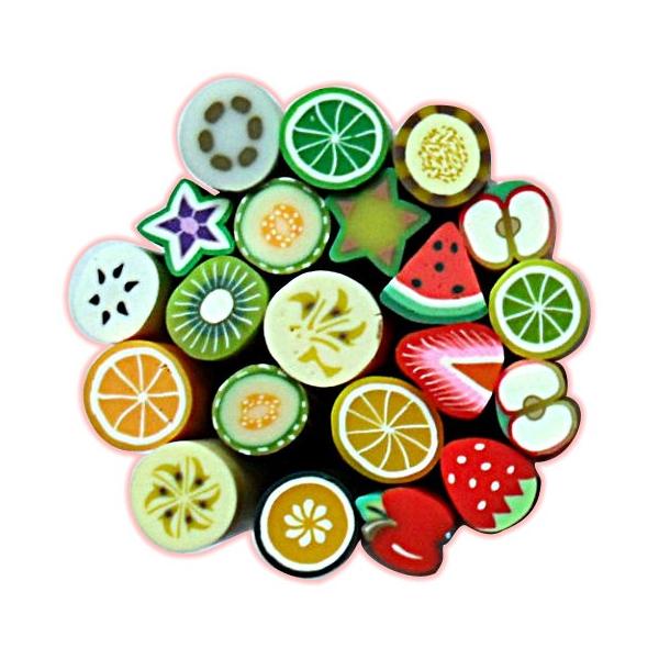 Batoane Fimo Fructe 3buc